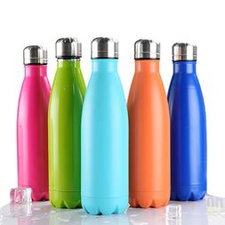 Bayzon Vacuum Insulated Water Bottle - 17oz Double Wall Stai