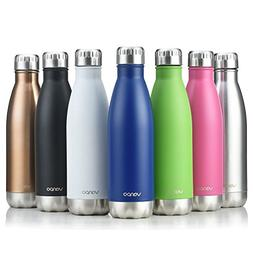 vanpo Vacuum Insulated Water Bottle, 17OZ Thermos Double Wal