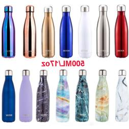 Vacuum Insulated Water Bottle Hot Cold 17 Oz Double Wall Sta
