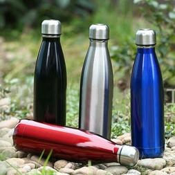 Vacuum Insulated Water Bottle Hot Cold 500ml Double Wall Sta