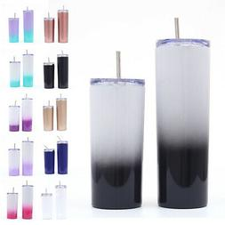 Vacuum Insulated Water Bottle Tumbler Cup Stainless Steel Wi