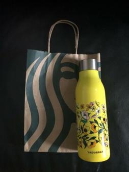 da38b622e0 Starbucks Vacuum Insulated Water Bottle Yellow Floral 20 Oz