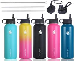 Vacuum Stainless Steel Water Bottle Insulated Wide Mouth Cap