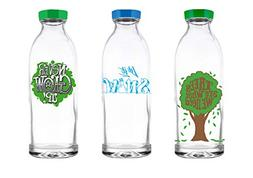 Faucet Face Gift Pack - 3 Limited Edition Reusable Glass Wat