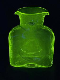 Blenko Vaseline Glass Water Bottle 384 - Limited Edition