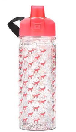 Victoria's Secret PINK Glitter Collegiate Water Bottle 20 oz