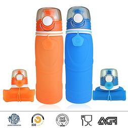 Vitanz Collapsible Water Bottle - Silicone Leak Proof Valve