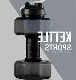 Water Bottle 2.2L Dumbbell Shaped Sport Drink Exercise Gym P