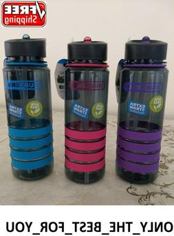 Water Bottle 26 OZ Plastic Insulated With Extra Straw Wide M