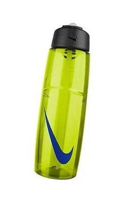 NIKE WATER BOTTLE 32 OZ 1 LITER YELLOW BLACK WITH STRAW NWT