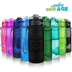 Sports Water Bottle, 400/500/700ml/1L, BPA Free Leak Proof P