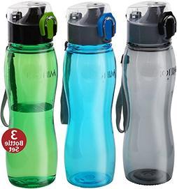 Kids Water Bottle Milton 3 Pack Triton 25 Oz Large Sports Wa