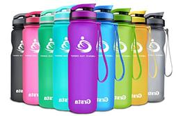 Grsta Sport Water Bottle 32oz, Wide Mouth Leak Proof BPA Fre