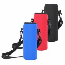 1000ml neoprene water bottle carrier insulated cover bag holder strap travel RS