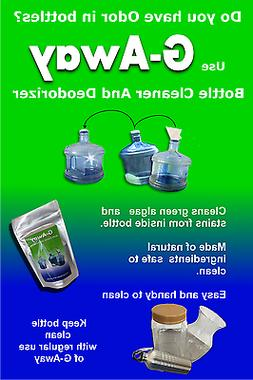 Water Bottle Cleaner to clean algae and odor for 2/3/5 gallo