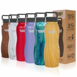 Healthy Human Water Bottle Curve BPA Free Metal Stainless St