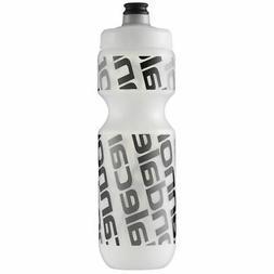 water bottle diag clear black 24 oz