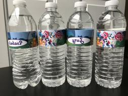 Water Bottle Label. Any Character of your choice.