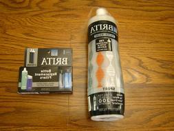 Brita Sport Water Bottle 20 oz with 1 Filter - BPA Free - Fr