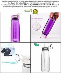 Water Bottle With Straw And Handle carrier BPA FREE 27Oz For