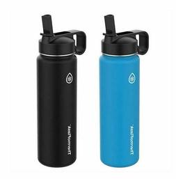 Thermoflask Water Bottle With Straw Lid 24 Oz Vacuum Insulat