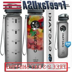 Water Bottle with Time Marker, Large BPA Free Water Bottle 1