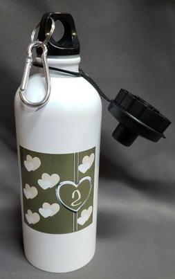 3dRose wb_123042_1 HEART PATTERN Sports Water Bottle, 21 oz