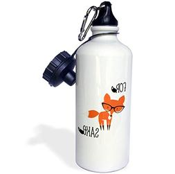 3dRose wb_270951_2 No Fox Given Straw Water Bottle