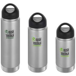 Klean Kanteen Wide Insulated Bottle with Loop Cap - Brushed