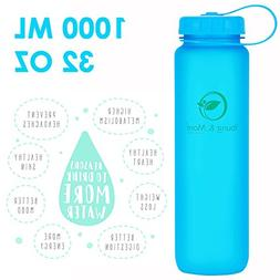 Young & More 32 oz Wide Mouth Bike Water Bottle