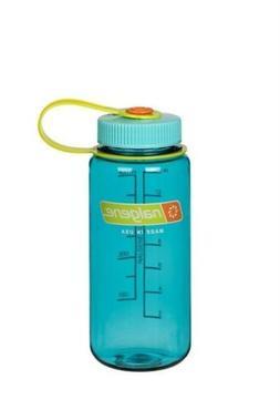 Nalgene Wide Mouth 16oz Loop Top Water Bottle Cerulean Blue