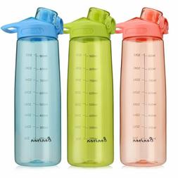 Bonison Wide Mouth Sports Water Bottle Flip Top Lid with Han