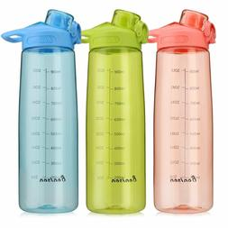 8b413260dd Editorial Pick Bonison Wide Mouth Sports Water Bottle Flip Top Lid with Han