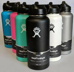 Hydro Flask Wide Mouth Stainless Steel Bottle With Straw Lid