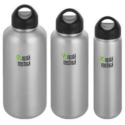 Klean Kanteen Wide Single Wall Bottle with Loop Cap - Brushe