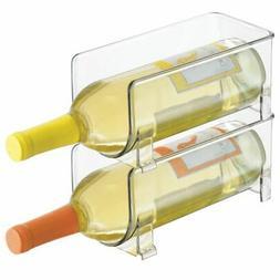 mDesign Wine Rack, Water Bottle Storage Organizer, Stackable
