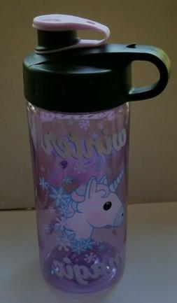 Cool Gear Winter Magic Unicorn Purple Water Bottle BPA Free