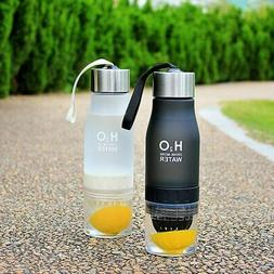 Xmas Gift 650ml Infuser Water Bottle plastic Fruit infusion