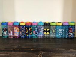 Zak Designs Kids Character Water Bottle Cup Disney Marvel PJ