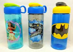 Zak Designs Water Bottle Kids Disney Marvel DC Carry Loop BP