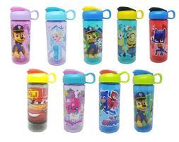 Zak Plastic Water Bottle 16oz Carry Loop Character Designs B